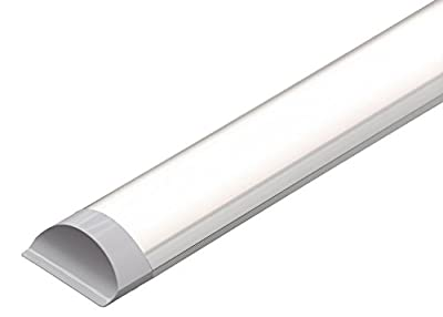 LED Batten Slimline Profile Wide Tube Warm White 3000K Available in 4ft 5ft 1500x75x24mm 45W Wall and Ceiling Light Replaces 160W Lifespan 40000h Brightness 4500lm … (5FT 150 cm)
