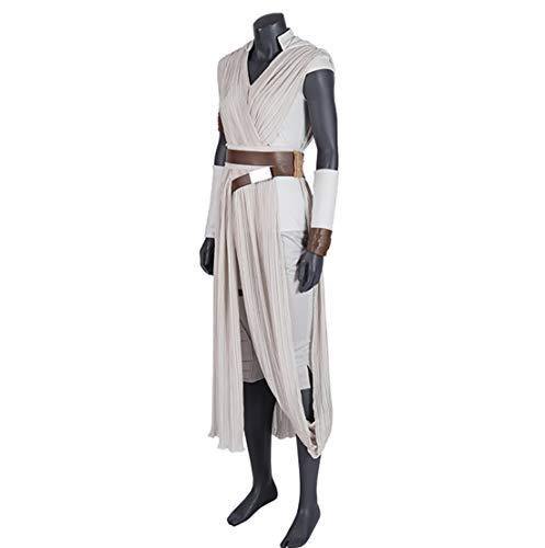 Rey Kostüm Star Wars 9 Der Aufstieg der Skywalker Cosplay Halloween erwachsenes Superheld Jedi Rey Outfit Cosplay Stiefel Damen Hosen,Fullset,XS