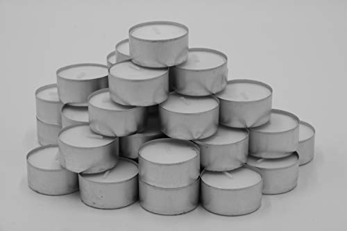 HMH 200 Teelichter ca. 4 h Brenndauer weiß unbeduftet Ø 38 mm Gastro Teelichte Kerzen