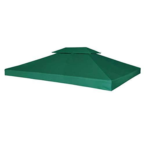 GOTOTOP Cubierta de Repuesto para Pabellón Cenador Gazebo, 3 x 4 m, Impermeable, con 8 Arandelas, 310 g/m², Verde