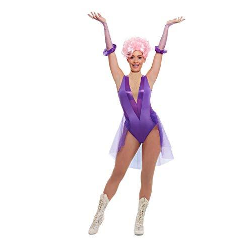 NET TOYS Disfraz de Circo Artista para Dama - Morado S (ES 36/38) - Extraordinaria Vestimenta Bailarina para Mujer - El Momento de la Noche para Fiestas temticas y Fiestas de Disfraces