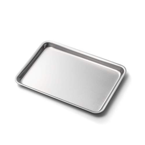 360 Stainless Steel Jelly Roll Pan, Handcrafted in the USA, 5 Ply, Surgical Grade Stainless Bakeware, Dishwasher Safe, Professional Grade, Use as Baking Pan, Roasting Pan (14'x10')