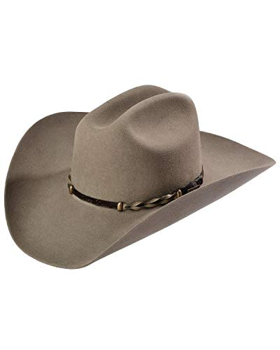 Stetson Men's Stone Portage 4X Buffalo Felt Cowboy Hat Stone 7 3/8 Brown