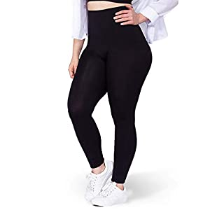 High Waisted Leggings for Women – Tummy Control and Full Body Shaping XLarge Black | Shapermint Empetua