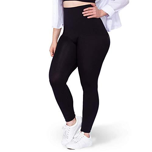 Shapermint High Waisted Leggings for Women - Anti Slip Tummy Control, Full Body Sculpting Leggings - Medium Black