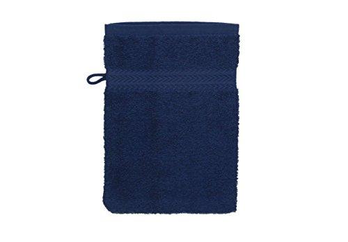 Betz Gant de Toilette pour Visage Corps Gant de Toilette Taille 16x21 cm 100% Coton Premium Couleur Bleu foncé