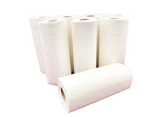 HL-Kauf 24 Küchenrollen Haushaltsrollen Küchenpapier 3 Lagig Weiß (24 Stück)