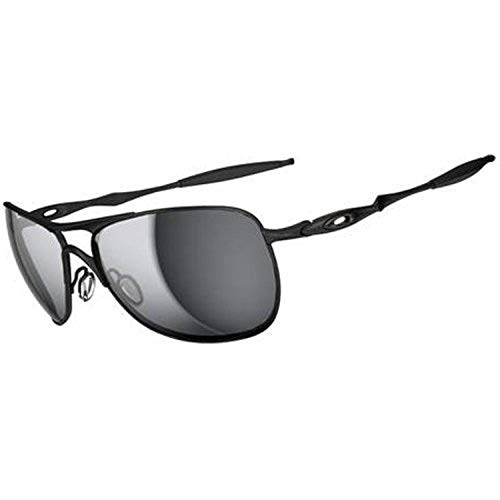 Oakley Men's OO4060 Crosshair Aviator Metal Sunglasses, Matte Black/Black Iridium, 61 mm