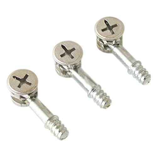 WEIXIAO WLKH Tornillos de Muebles 10pcs FITING Cap Tuercas de conexión Tornillos Conector del gabinete de M6 Nueva, 2 en 1 de los excéntricos Ruedas
