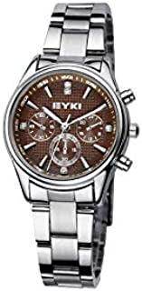 EYKI Fashion Classic Lover's Watch Table Quartz Steel Watchband EET8581 Women Female Brown