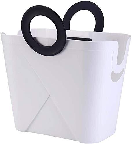 DAGUAI Large Laundry Basket, PP Laundry Hamper, Durable Storage Basket with Comfort Handles for Convenient Carrying (Color : White)