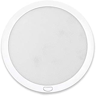 Dream Lighting 12volt LED Panel Ceiling Dome Light Fixture with Programmed Switch for RV Motorhome & Camper Trailers & Mar...