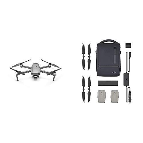 DJI Mavic 2 Pro Drohne Quadrocopter mit Hasselblad Kamera HDR Video Variable Blendenöffnung 20MP 1' CMOS Sensor & Fly More Kit | Mit 2 intelligenten Flugakkus, 1 Mehrfachladegerät,