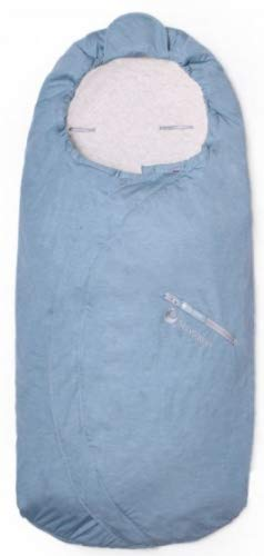 Saco de dormir Lite 98-115 x 48 cm, algodón y bambú, color azul