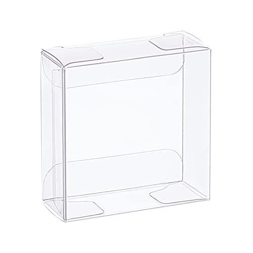 BENECERAT 30PCS 5x5x2cm Scatola per bomboniere in plastica Trasparente Scatole Regalo Trasparenti in PVC rettangolari per Compleanni, bomboniere per Matrimoni