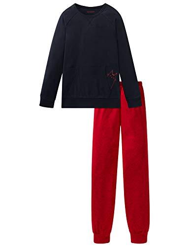 Schiesser Mädchen Anzug lang Zweiteiliger Schlafanzug, Blau (Nachtblau 804), (Herstellergröße: 176)