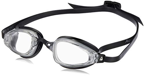 MP™ (Michael Phelps) Unisex– Erwachsene K180 Schwimmbrille, Klare Gläser - Silber/Schwarz, One Size