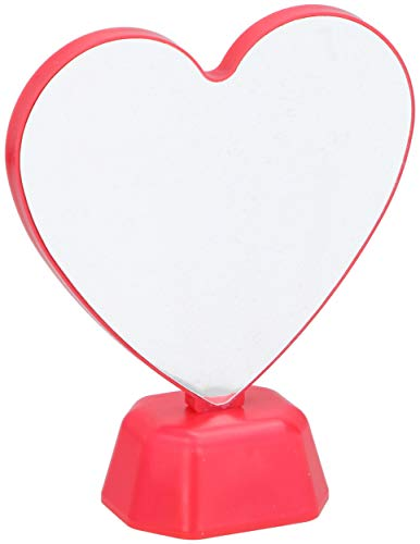 GRUNDIG unendliche Spiegel-Herz-LED 15,5 x 19 cm rot
