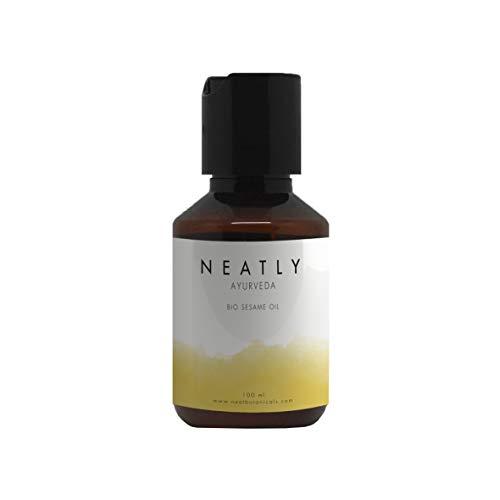 Huile de sésame ayurvédique NEATLY I 100 ml I Huile essentielle naturelle de soins de la peau & des cheveux I Huile hydratante pour la peau I Soin anti âge rides et ridules