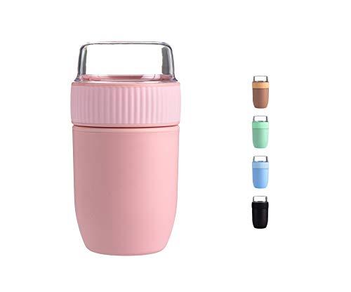 Coninx Müslibecher to Go - Lunchbox - Müsli to go Becher - Joghurtbecher to Go - Müslibecher BPA-Frei - Geeignet für Spülmaschine - Praktischer Müslibecher für Kinder und Erwachsene (Pink)