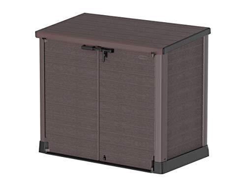 Duramax Cedargrain StoreAway 1200L Plastic Garden Storage Shed / Flat Lid - Outdoor Storage Bike Shed – Durable &...