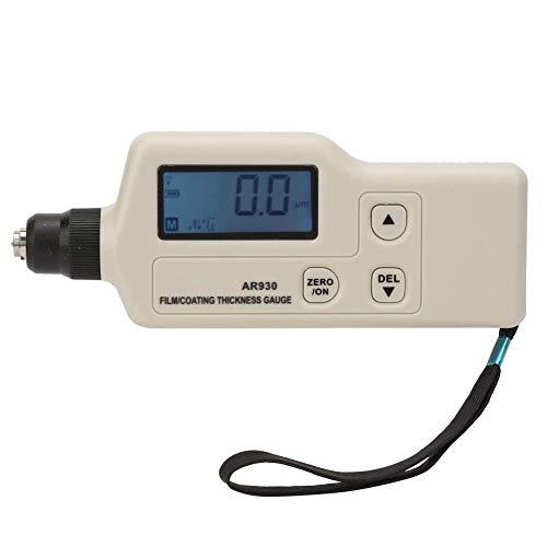 Allamp Coating Thickness Gauge AR930 Digital Coating Thickness Gauge Tester Professional Paint Meter Data Storage Measuring Range 0~1800um Digital Tester Thickness Gauge