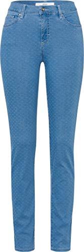 BRAX Damen Style Shakira Minimal Jacquard Jeans, CLEAN Light Blue, W34/L32 (Herstellergröße: 44)
