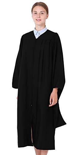 GraduationMall Unisex Economy Master Graduation Gown Black Large 51(5'3'-5'5')