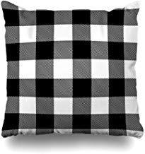 GFGKKGJFF0812 Fundas de cojín rectangulares de cuadros grises clásicos de color negro y blanco, retro, color gris, 18 x 18 pulgadas, para sofás, asientos, fundas de almohada, fundas de almohada para niñas