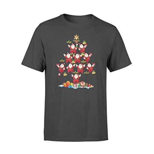 Leet Group Camiseta de Papá Noel con diseño de árbol de Navidad
