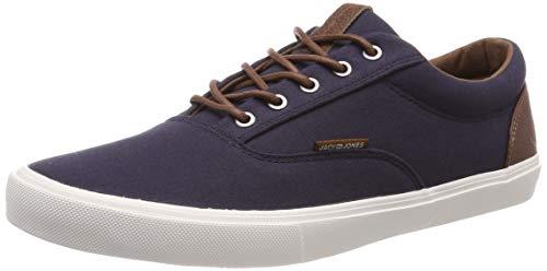 JACK & JONES Men's Jfwvision Classic Mixed Navy Blazer Noos Low-Top Sneakers, Blue 42 EU , 7.5  UK
