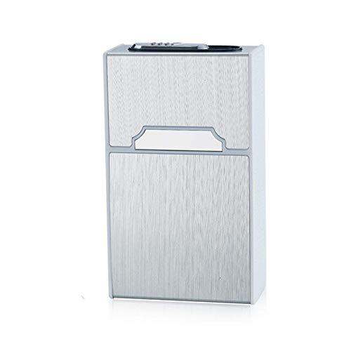Dljyy Boquilla de Aluminio, Caso de Cigarrillos con encendedores, Metal portátil Caso de Cigarrillos, 2 en 1 electrónico Recargable sin Llama a Prueba de Viento Encendedores