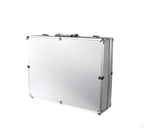 POINSETTIA Alukoffer Werkzeugkoffer Multikoffer für Drohne Leer LxBxH 45x34.5x10.5cm Silber