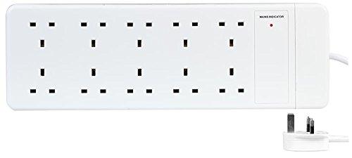 Pro Elec 20810-1M - Cable alargador (10 Unidades, 1 m), Color Blanco