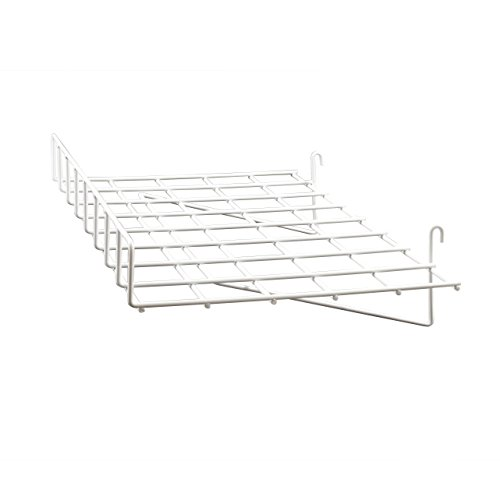 Econoco WTES/93 Straight Shelf with Front Lip, 24' Length x 15' Depth, White (Pack of 4)