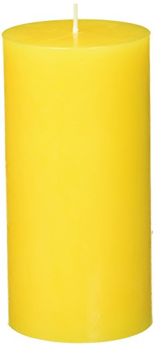 Zest Candle Pillar Candle, 3 by 6-Inch, Yellow
