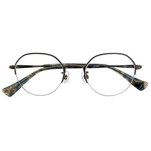 SHOWA ブルーライトカット UVカット 遠近両用メガネ ソーホーズクラシック SO-9802 (ブロンズ) (メンズセット) 全額返金保証 境目のない 遠近両用 眼鏡 老眼鏡 おしゃれ メンズ 男性 リーディンググラス パソコン PC メガネ (瞳孔間