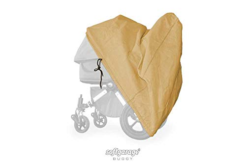 softgarage buggy softcush beige afdekking voor kinderwagen Nuna Demi Grow regenbescherming regenhoes