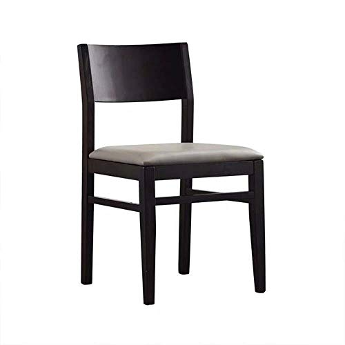 SPRINGHUA Sillas de comedor, cocina, comedor, cocina, sillas de madera con cojín de poliuretano, sillas laterales de salón, cocina, comedor (color, tamaño: 43 x 48 x 83 cm)
