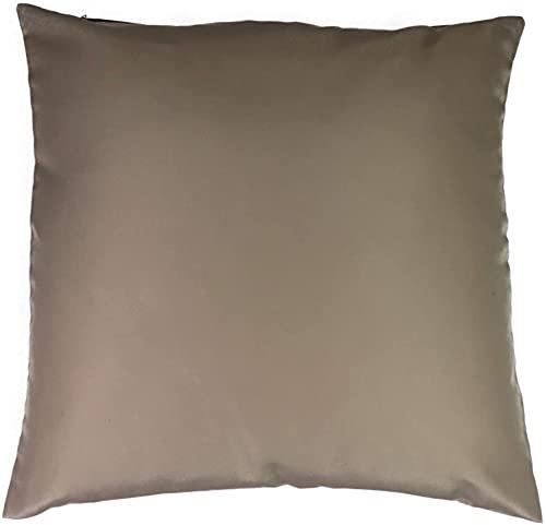 Funda de cojín en pack de 2 unidades, de 50 x 50 cm, color marrón y beige