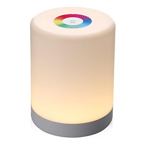 Nachtlampje met LED Touch Control dimbaar Smart tafellamp dimbaar kleurverandering Intelligent opladen