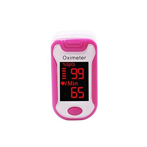 Pulsoximeter, Finger-Pulsoximeter mit Kasten Fingertip Pulse Oximetro De Pulso De Dedo LED Pulse Oximeter Saturators Pulsoximeter (Color : Rose Red)