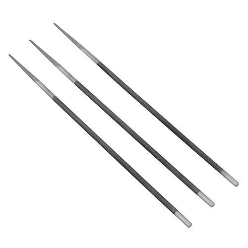 Jadpes kettingvijl puntenslijper, 3 delen/set 3/16 inch 4,8 mm ronde lagers, stalen slijpen, kettingzaag vijlen puntenslijper voor houtwerk