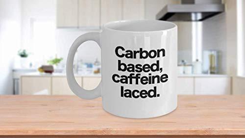 11 oz Koffie Mok, Thee Beker, Koolstofgebaseerde Koffiemok Cafeïne Gekleurd Grappig geschenk voor Mensen Geeks Wetenschapper