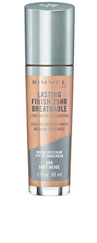 Rimmel Lasting Finish Breathable Foundation, Soft Beige, 1 Fluid Ounce
