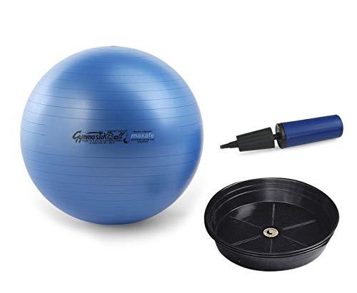 Pezziball Maxafe Set + Ballschale +Handpumpe (blau, 75 cm)