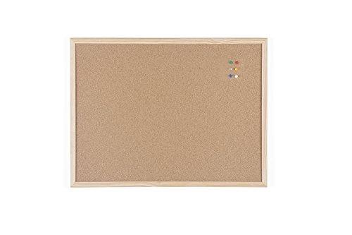 Bi-Office Budget - Tablero de corcho con marco de madera, 60 x 45 cm