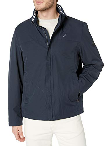 Nautica Men's Long Sleeve Classic Bomber Jacket Outerwear, True Navy, Large