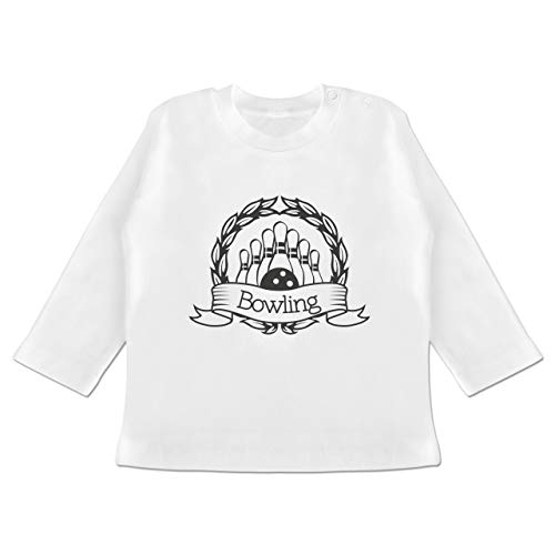 Sport Baby - Bowling Lorbeerkranz - 18/24 Monate - Weiß - Bowlingkugel - BZ11 - Baby T-Shirt Langarm