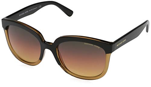 Michael Kors Palma 3319H4 55 Gafas de sol, Negro (Black/Amber Crystal/Sunset Gradient), Mujer